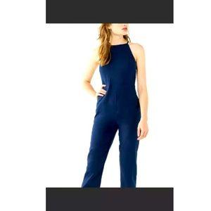 Urban Outfitter Hattie High Neck Linen Jumpsuit 4